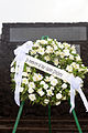 A flower wreath decorates a memorial, honoring fallen Soldiers during a ceremony in Hilo, Hawaii, Nov. 11, 2013 131111-Z-ZO853-321.jpg