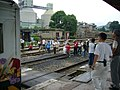 A group of railfans are taking photos of train-P1010276.JPG
