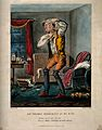 A hypochondriac with something in his eye. Coloured aquatint Wellcome V0015885.jpg