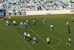 Canberra Stadium - Sydney FC playing Newcastle at Canberra Stadium in 2006