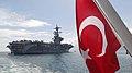 A liberty boat departs USS George H. W. Bush. (13106308155).jpg