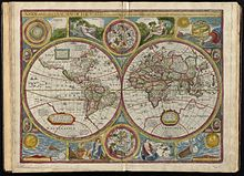 "1662 world map by John Speed, published as ""A new and accurat map of the world"""