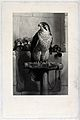 A peregrine falcon surrounded by harnesses used in falconry. Wellcome V0022272.jpg