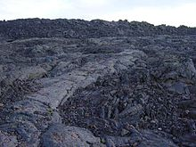 A next to p hoehoe lava at the craters of the moon national