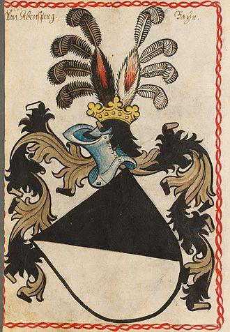 Niclas, Graf von Abensberg - Coat of arms of the counts of Abensberg