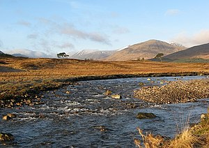 Black Mount - The River Shira drains the south of Blackmount Forest.