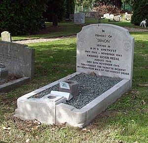 Simon (cat) - Simon's resting place at the PDSA Animal Cemetery in Ilford.