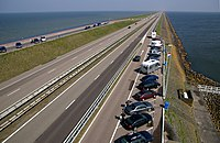 The Afsluitdijk (Closure-dike) is a major dam in the Netherlands.