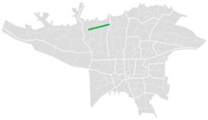 Abshenasan Expressway - Image: Abshenasan Expressway map
