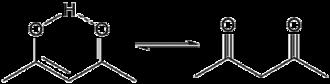 Diketone - Scheme 1. Tautomerism of 2,4-pentanedione
