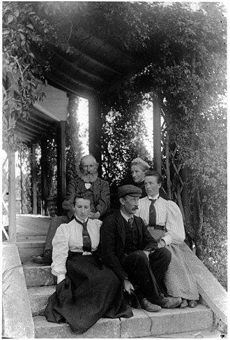 John Acland (politician) - John and Emily Acland with (from left) Rosa, John and Bessie