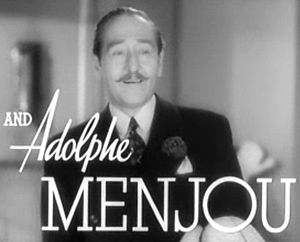Screenshot of Adolphe Menjou from the trailer ...