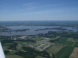Indian Lake (Ohio) - Aerial view of the lake in summer