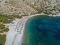 Aerial Nikolaos Beach Hydra, Greece (43058504740).jpg