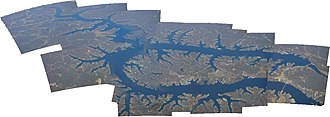 Lake of the Ozarks - Aerial panorama of Lake of the Ozarks