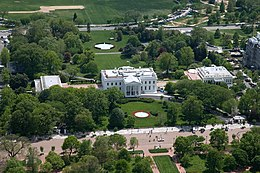 Aerial View Of The White House Complex From North In Foreground Is Pennsylvania Avenue Closed To Traffic Center Executive Residence 1792 1800