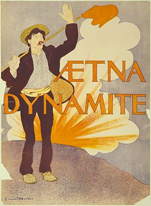 Dynamite - Advertisement for the Aetna Explosives Company of New York.