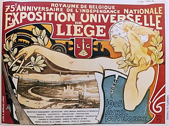 Liège International (1905) - Official Poster of the Fair