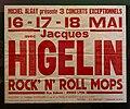 Affiche de concerts Jacques Higelin (1978) à Rock n' roll Mops (Lyon capitale du rock - 1978-1983).jpg