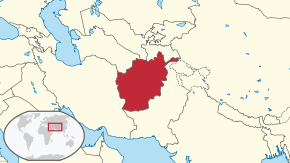 Location of Afganistan
