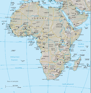 Coronations in Africa - Political map of Africa.