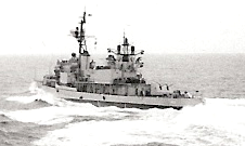 Aft view of USS Higbee (DD-806), circa in 1970