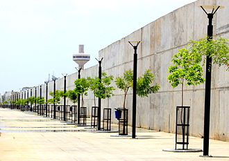 Ahmedabad - A side walk at the Sabarmati Riverfront