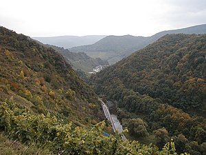 Ahr (wine region) - The narrow Ahr river valley is responsible for the region's favoured mesoclimate.