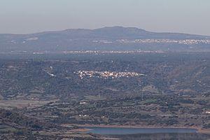 Aidomaggiore - Aidomaggiore and the lake Omodeo