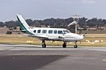 AirMed Australia (VH-MZI) Piper PA-31-350 Chieftain taxiing at Wagga Wagga Airport (1).jpg