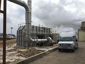 Pollution - Thermal oxidizers purify industrial air flows.