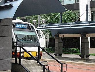 Blue Line (Dallas Area Rapid Transit) - Image: Akard Station