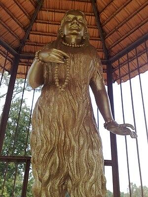 Akka Mahadevi - A statue of Akka Mahadevi installed at her birthplace, Udathadi