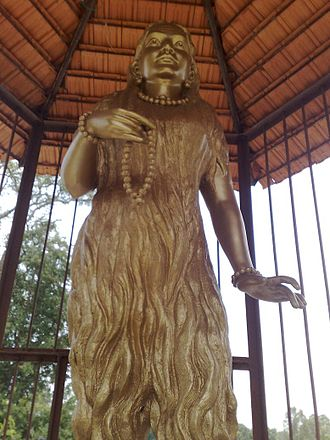 Akka Mahadevi - A statue of Akka Mahadevi installed at her birthplace, Udathadi