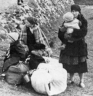 Action Saybusch - Women awaiting transport during Action Saybusch, 24 September 1940