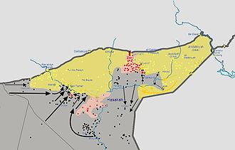 Tell Tamer - Al-Hasakah offensive in progress, 24 February 2015