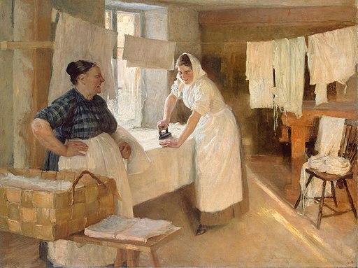 Albert Edelfelt - Pesijättärien (1893)