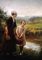 Washerwomen in Brittany