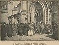 Album Warszawy według fotograficznych zdjęć K. Brandla - W palmową niedzielę przed katedrą (59135).jpg
