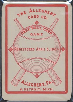Collectible card game - Allegheny's The Baseball Card Game from 1904 was a precursor to the CCG.
