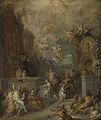 Allegorie op het afscheid van Willem III van Amalia van Solms na de overdracht van het regentschap aan de Staten-Generaal Rijksmuseum SK-A-4654.jpeg