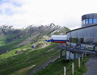 "Oberhasli - ""Alpen tower"" station and panorama restaurant."