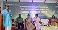 Alphons Kannanthanam addressing the stakeholders consultation meeting for the project development of Iconic tourist sites in Kumarakom, at Kottayam, in Kerala.jpg