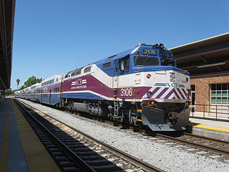 Altamont Corridor Express - Image: Altamont Commuter Rail MPI F40PH 3C 3106 with ACE Train 4 at San Jose Diridon Station, July 16th, 2012