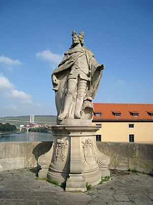 Pepin the Short - A statue of Pepin the Short in Wurzburg