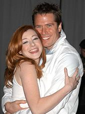 With husband Alexis Denisof