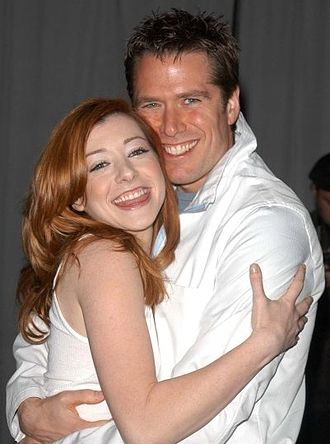 Alyson Hannigan - With husband Alexis Denisof
