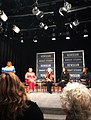 Amanda Matthews on panel with Sonya Ross and Carol McCabe Booker at Newseum, Washington DC for unveiling of Alice Allison Dunnigan statue.jpg
