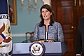 Ambassador Haley Delivers Remarks to the Press on the UN Human Rights Council (29036190088).jpg