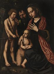 Ambrosius Benson: The Holy Family with St. John the Baptist